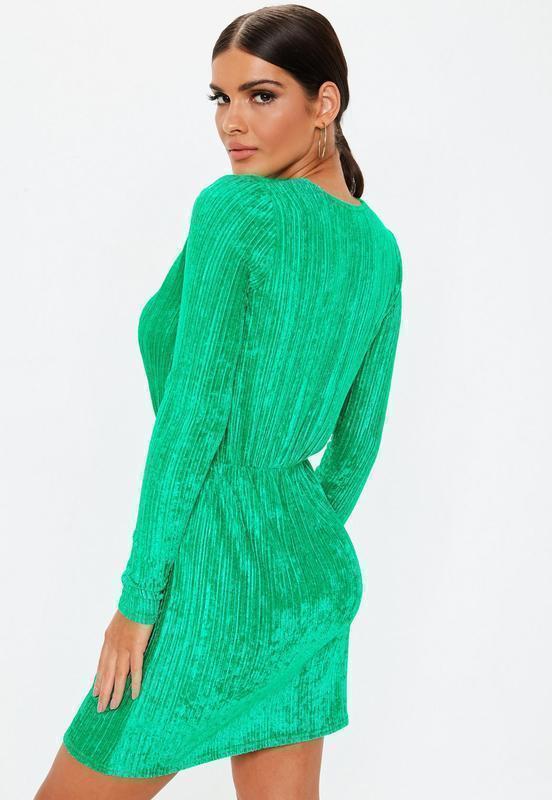 Новое платье с длинными рукавом под вельвет missguided - Фото 2