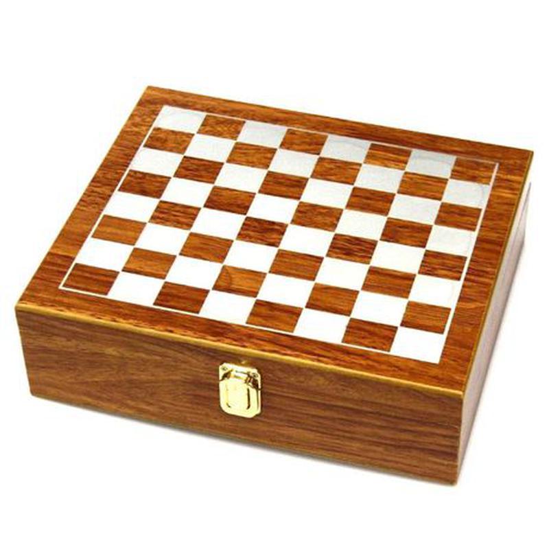 Мужской подарочный набор с флягой и шахматами №QZ8 - Фото 2