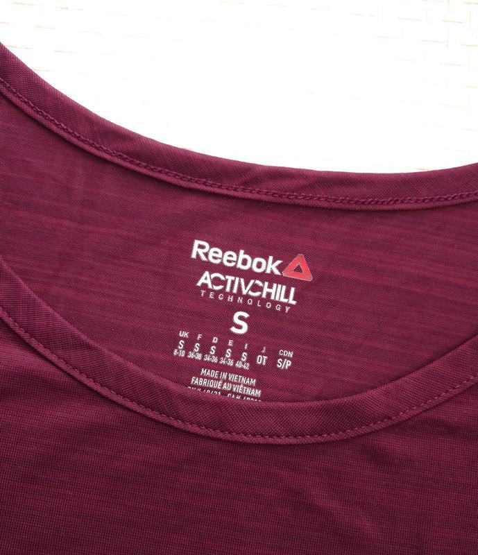 Полупрозрачная спортивная футболка reebok оригинал s - Фото 9