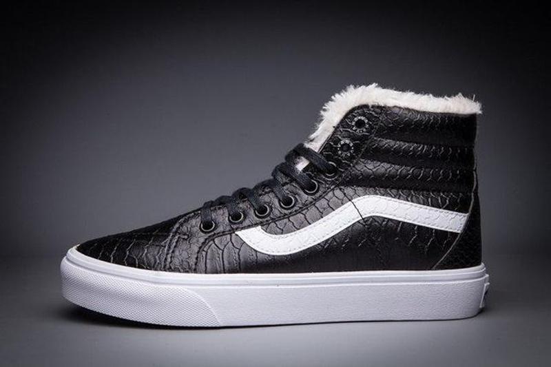 Зимние кеды Vans Croc Leather SK8-Hi Slim Zip   размер 39-й   ...