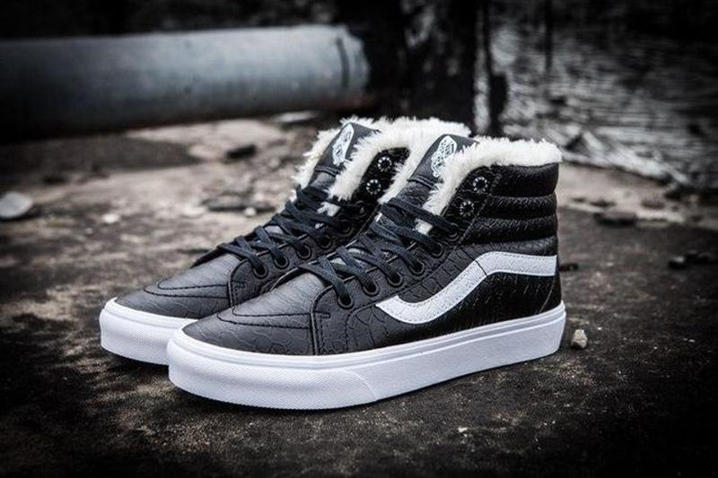 Зимние кеды Vans Croc Leather SK8-Hi Slim Zip   размер 39-й   ... - Фото 2