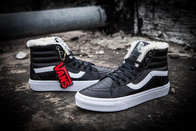 Зимние кеды Vans Croc Leather SK8-Hi Slim Zip   размер 39-й   ... - Фото 3