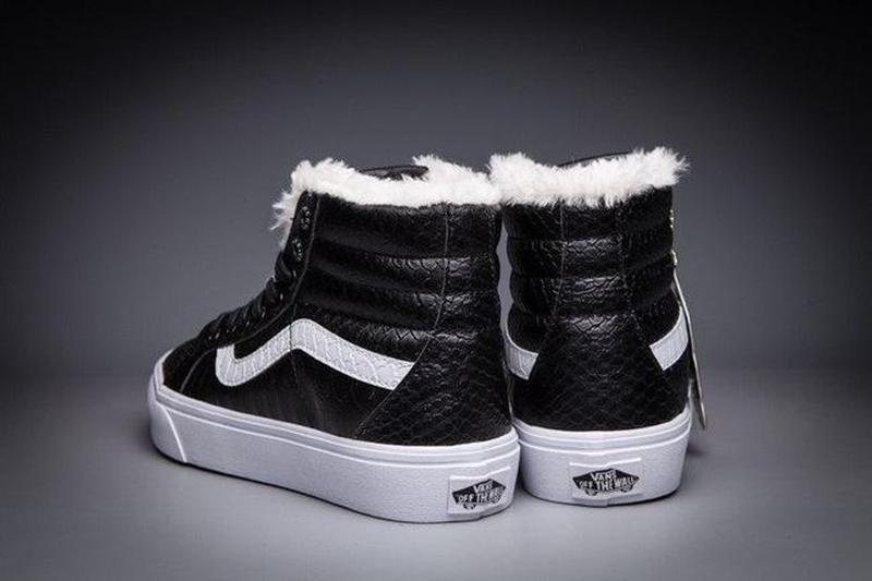 Зимние кеды Vans Croc Leather SK8-Hi Slim Zip   размер 39-й   ... - Фото 4