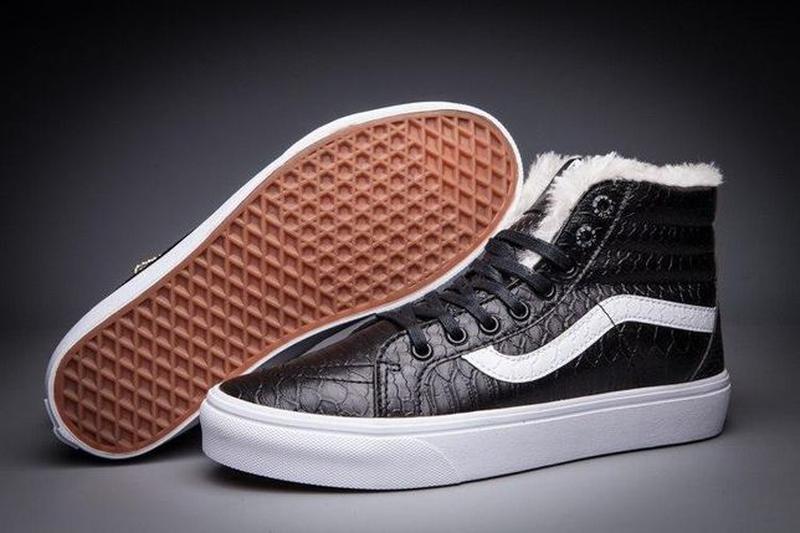 Зимние кеды Vans Croc Leather SK8-Hi Slim Zip   размер 39-й   ... - Фото 5