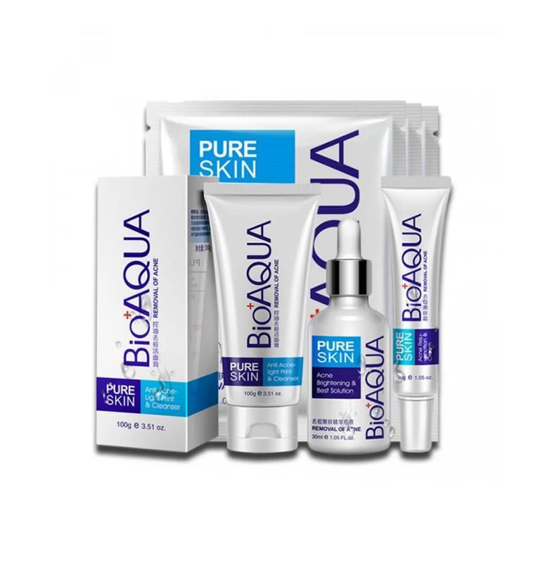 Набор для проблемной кожи Анти-акне, Pure Skin BIOAQUA 4шт