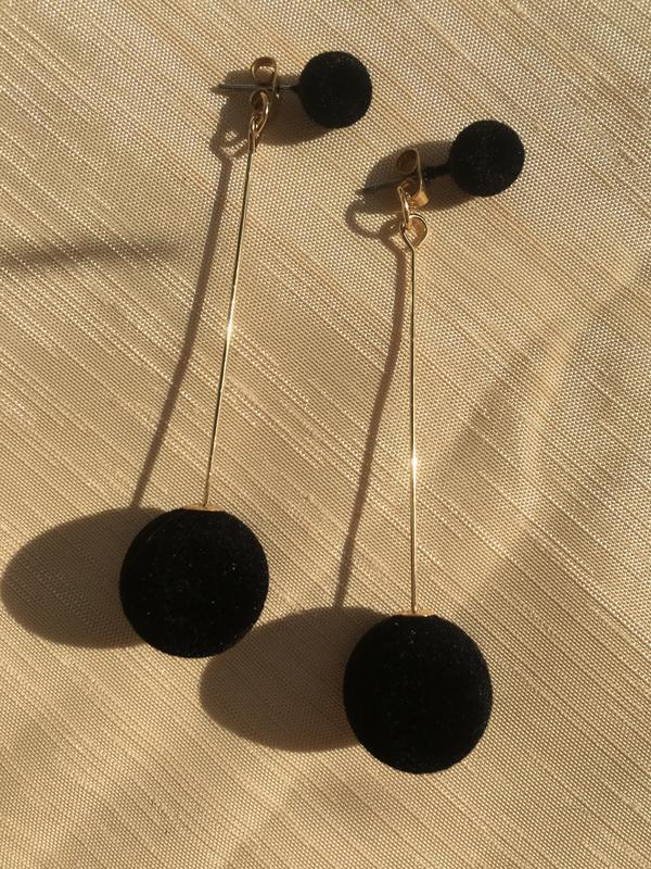 Стильные черные серьги #розвантажуюсь - Фото 2