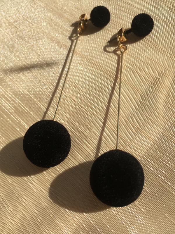 Стильные черные серьги #розвантажуюсь - Фото 4