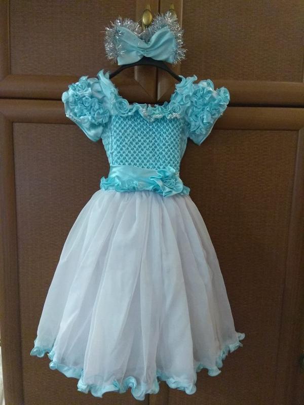 Плаття на новорічне свято мальвіна  на3-5 років