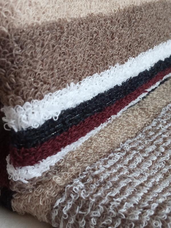 Полотенце лицевое махровое 100*50 коричневый - Фото 3