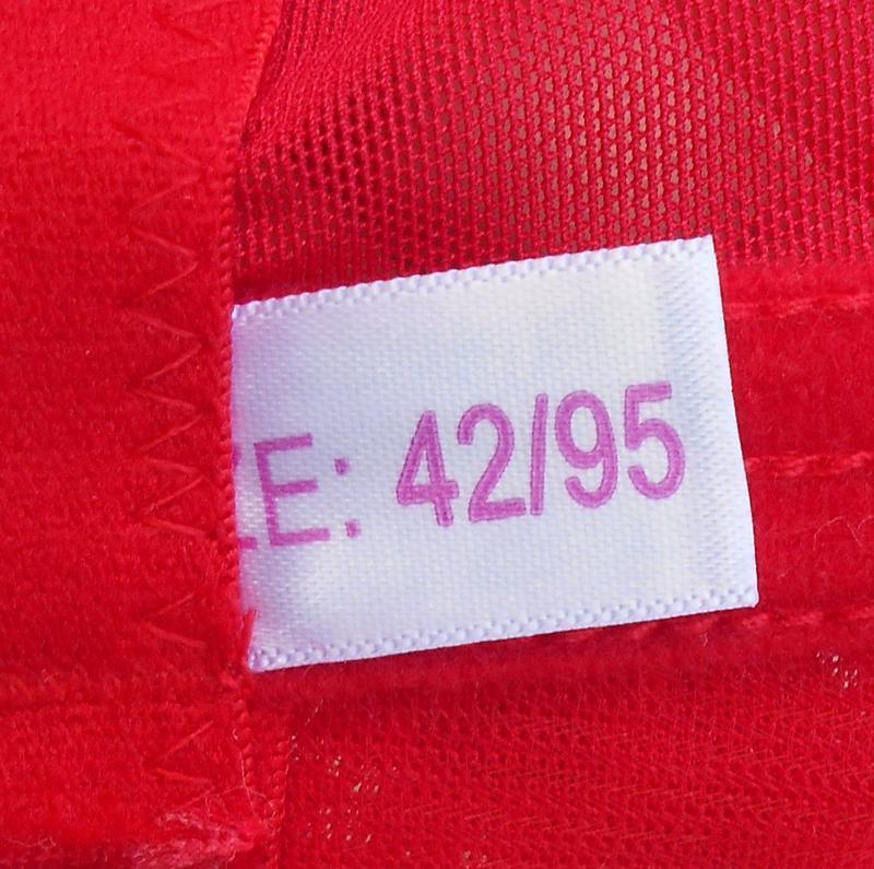 Красный кружевной  эротический бюстгальтер чашка уплотненная 95b - Фото 5