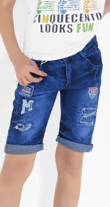Джинсовые шорты бриджи рванка на мальчика 6-7 лет 116-122 рост