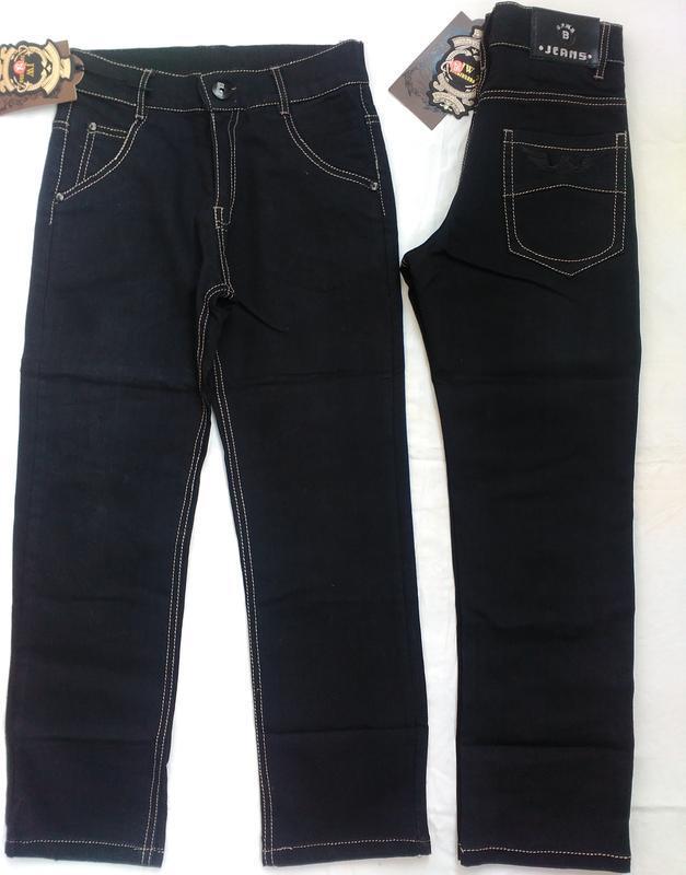 Черные школьные джинсы на мальчика 8-14 лет