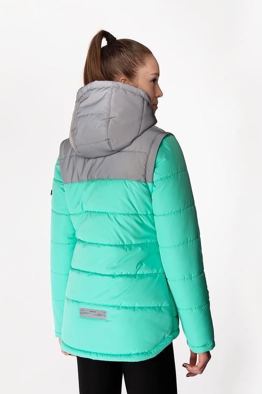 Nikol - детская демисезонная куртка-жилет, цвет персик - Фото 3