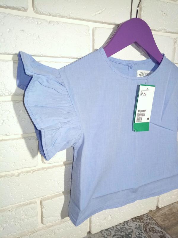 H&m топ на рост 92 и 98 см блуза футболка блузка - Фото 4