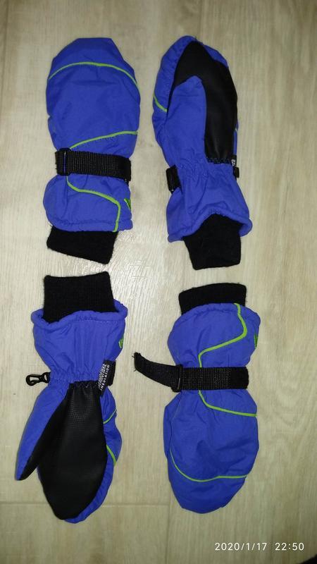 Рукавицы краги перчатки 6-7 лет 116-122 см рост kids германия - Фото 3