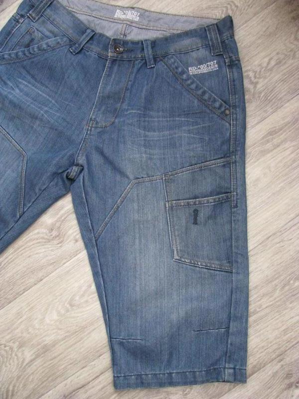 Шорты мужские джинсовые m размер - Фото 3