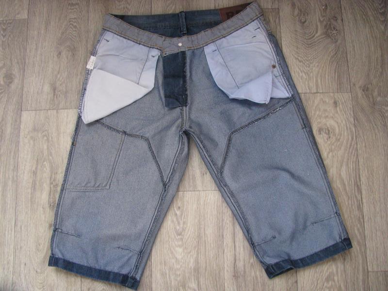 Шорты мужские джинсовые m размер - Фото 8