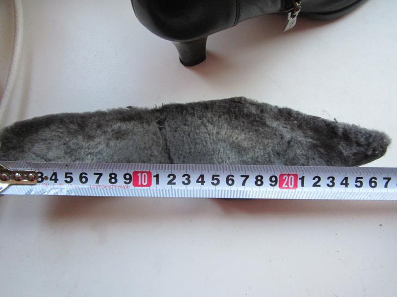 Сапоги зимние на натуральном меху размер 36-37 - Фото 3