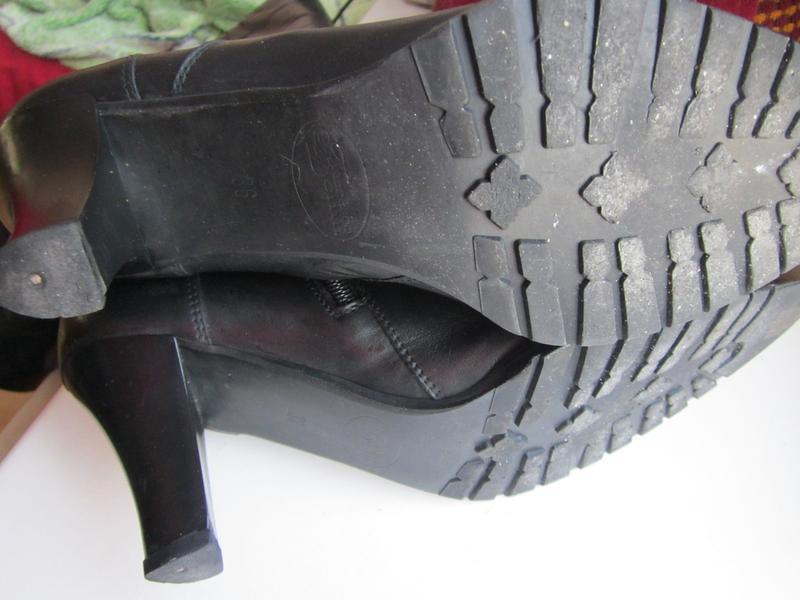 Сапоги зимние на натуральном меху размер 36-37 - Фото 5