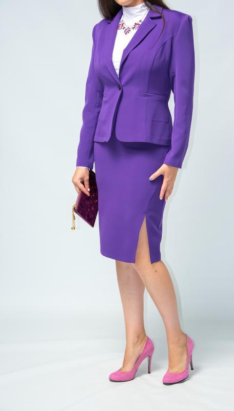 Костюм женский  классический жакет юбка от бренда adele leroy - Фото 2