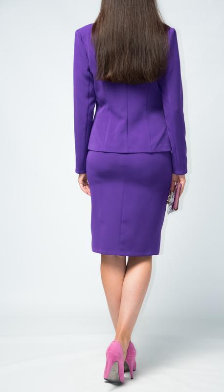 Костюм женский  классический жакет юбка от бренда adele leroy - Фото 3