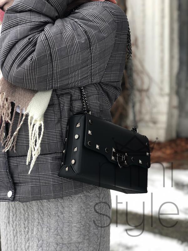 Кожа кожаная сумка на ручке цепочке cross-body сумочка трендов... - Фото 6