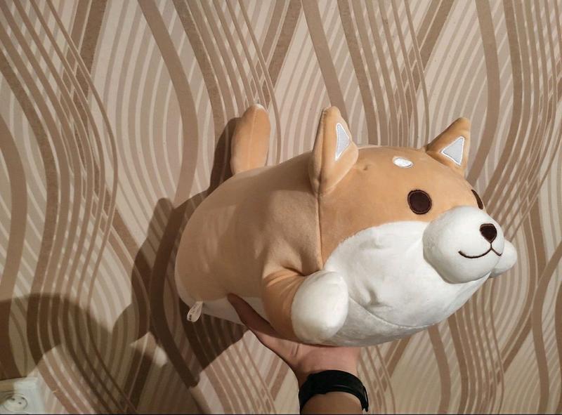 Новая мягкая игрушка подушка собака Шиба Ину 50см собачка подарок - Фото 4
