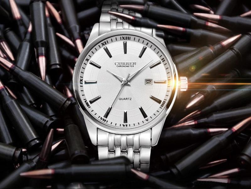 Часы наручные мужские CURREN SilverWhiteMetal M186 - Фото 2