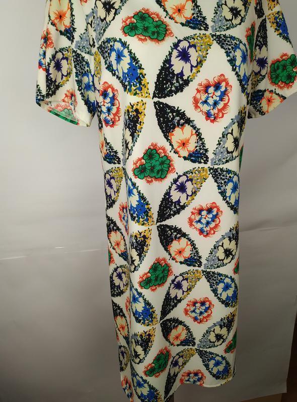 Платье новое красивое в принт uk 14/42/l - Фото 3