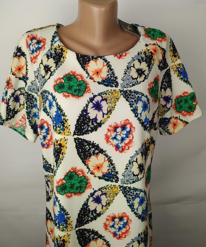 Платье новое красивое в принт uk 14/42/l - Фото 4