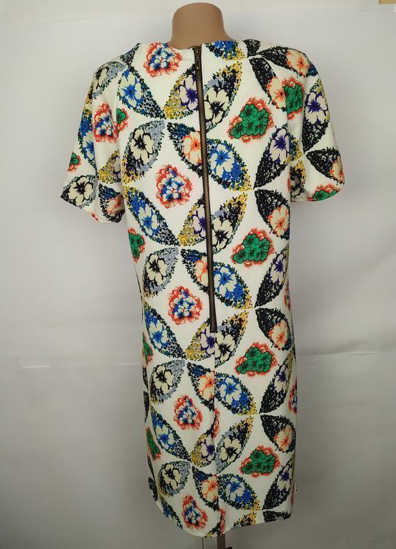 Платье новое красивое в принт uk 14/42/l - Фото 5