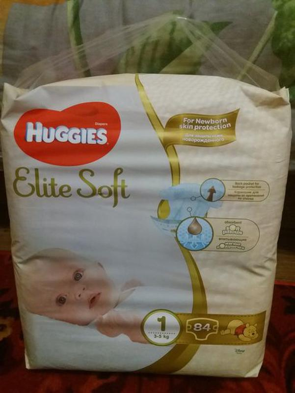 Подгузники Хаггис Элит Софт 1 размера 84шт.