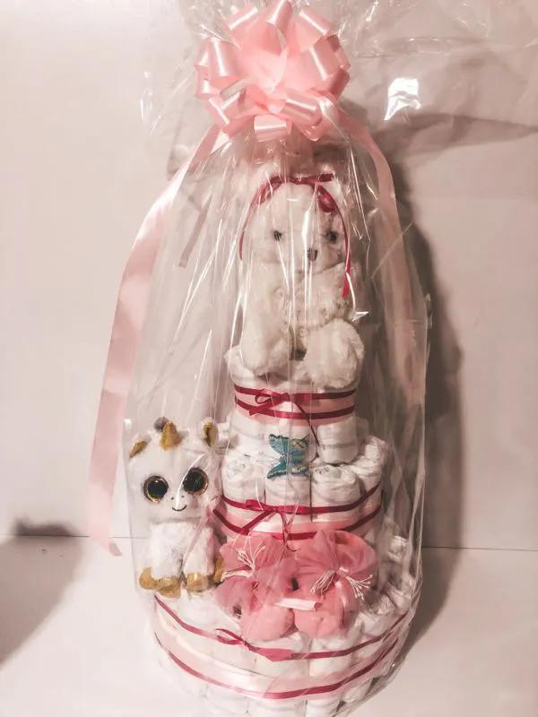 Торт из подгузников (памперсов) подарок - Фото 9