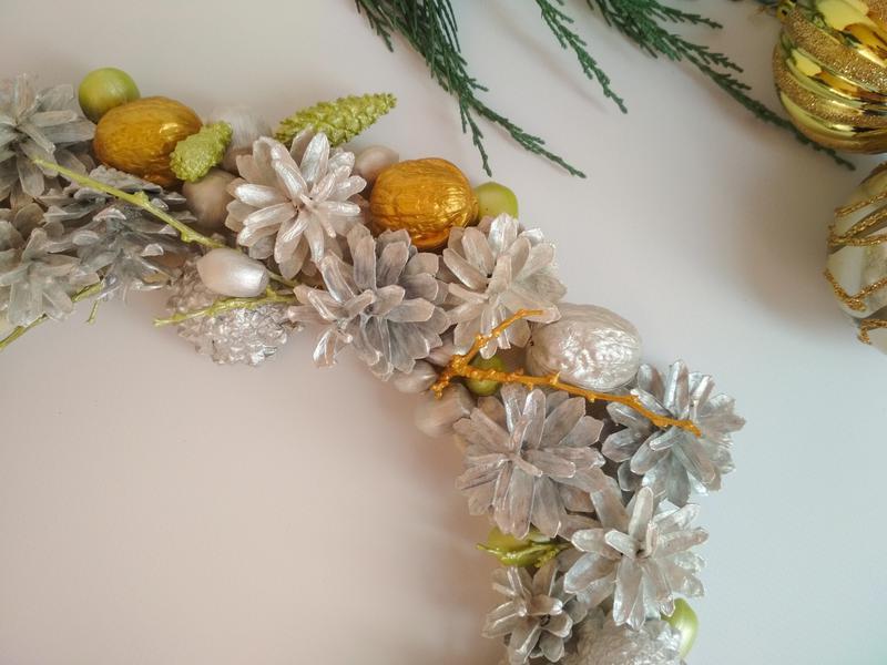 Декоративный рождественский, новогодний венок - Фото 2