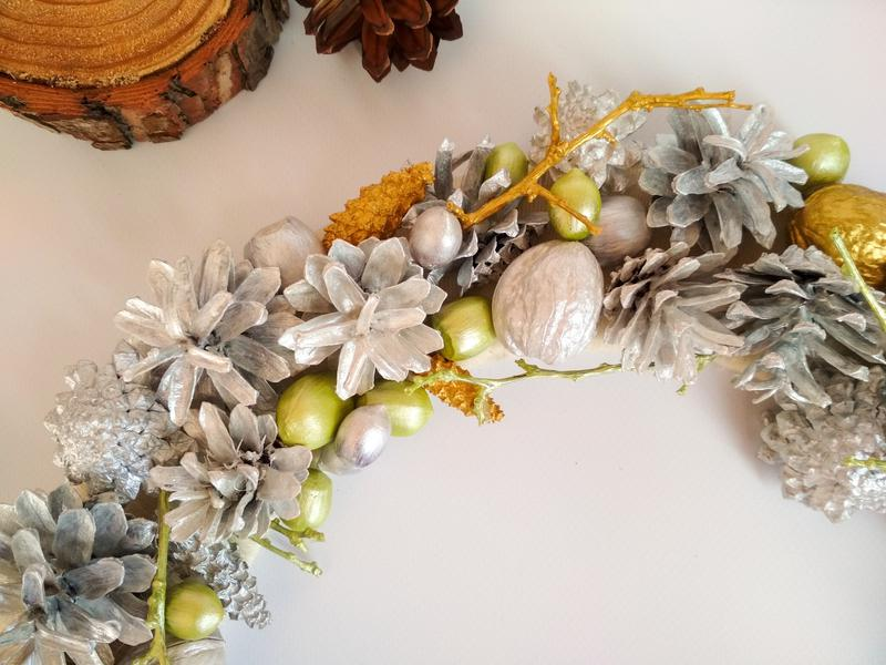 Декоративный рождественский, новогодний венок - Фото 3