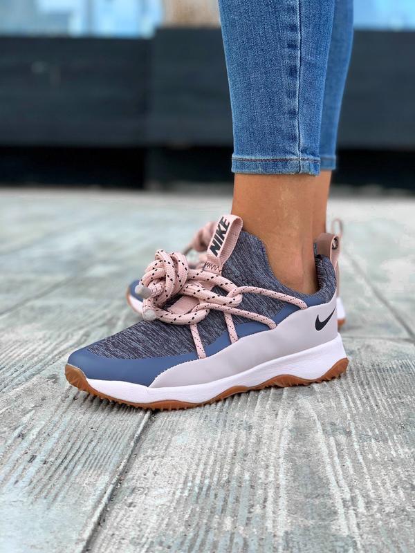 Nike city loop pink шикарные женские кроссовки найк сити луп