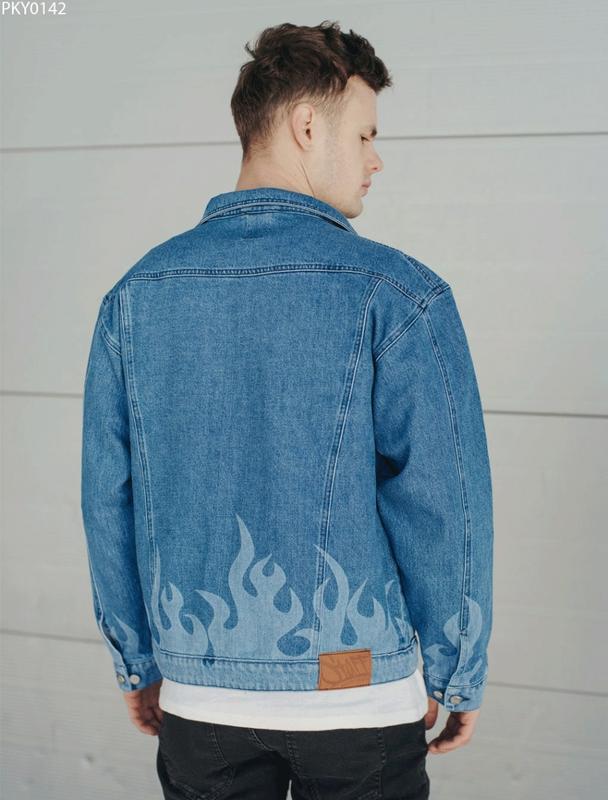 Джинсовая куртка staff blue fire - Фото 2