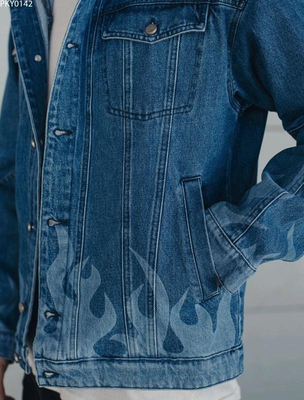 Джинсовая куртка staff blue fire - Фото 3