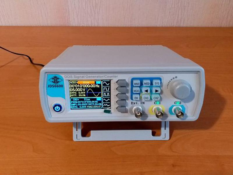 Генератор сигналов JDS6600-60M, 60 МГц, 2 канала, частотомер 1...