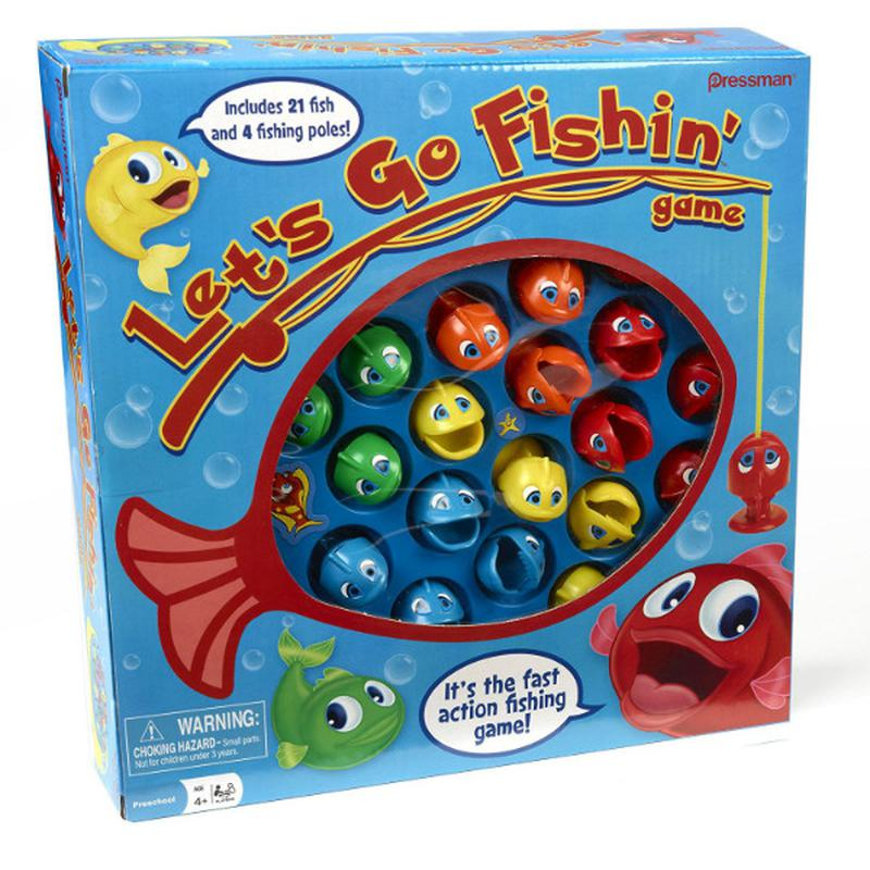 Lets Go Fishing настольная игра рыбалка pressman toys сша
