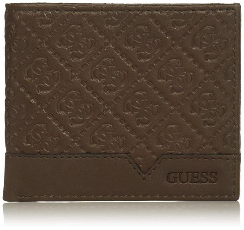 Оригинал guess сша. кожаный мужской унисекс кошелек портмоне б...