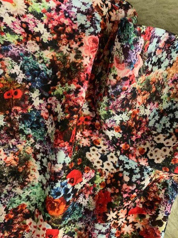 Платье цветочный принт оборки vero moda, новое! - Фото 3