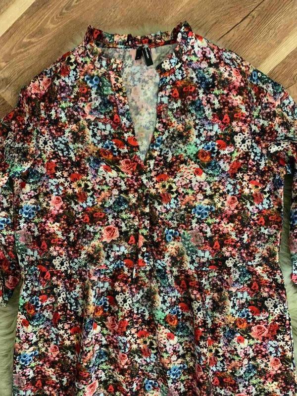 Платье цветочный принт оборки vero moda, новое! - Фото 4