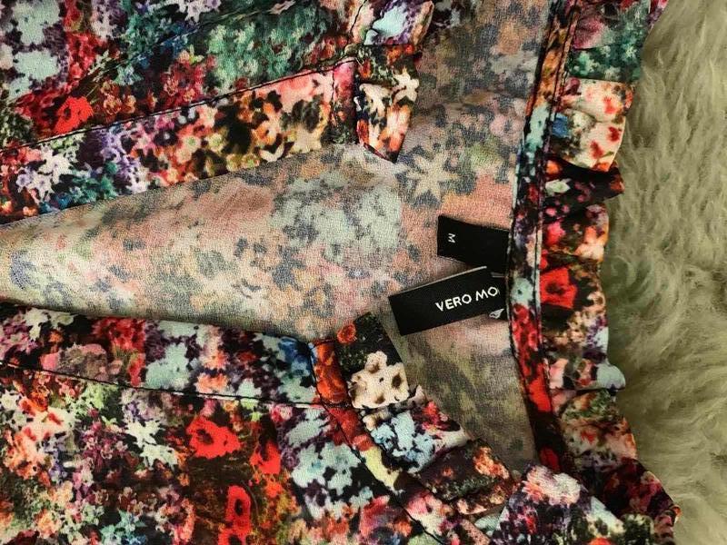 Платье цветочный принт оборки vero moda, новое! - Фото 5