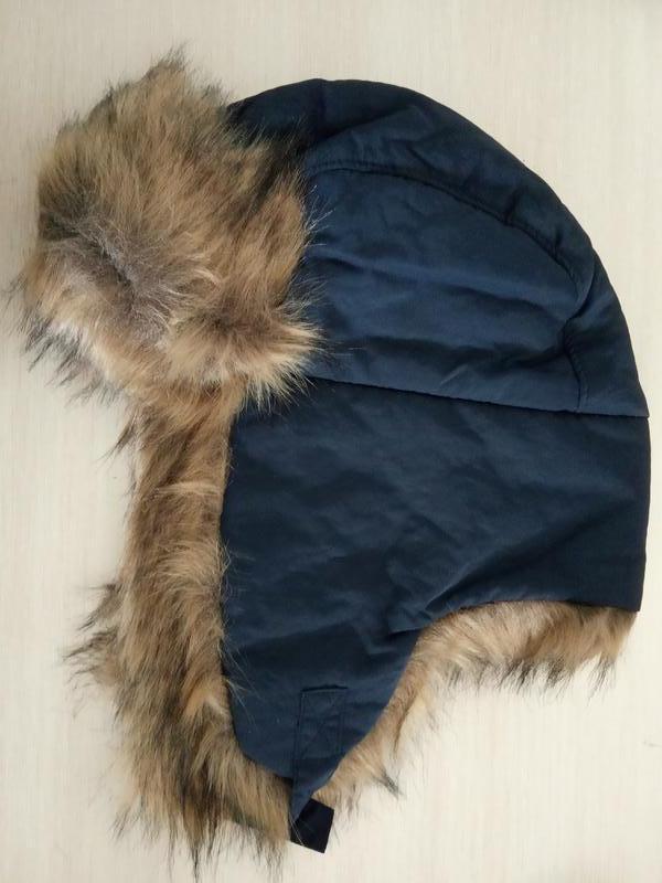 Мужская зимняя теплая шапка ушанка gap шапки мужские зима ориг... - Фото 2