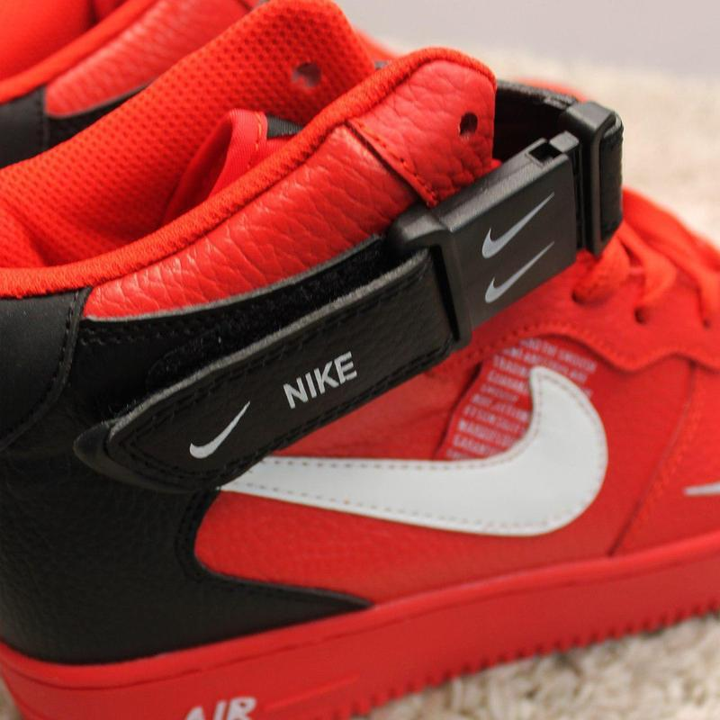 Стильные кроссовки 😍 nike air force 1 high red black  😍 - Фото 5