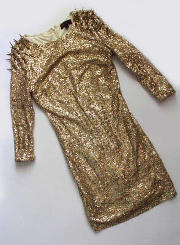 Платье золотое пайетки