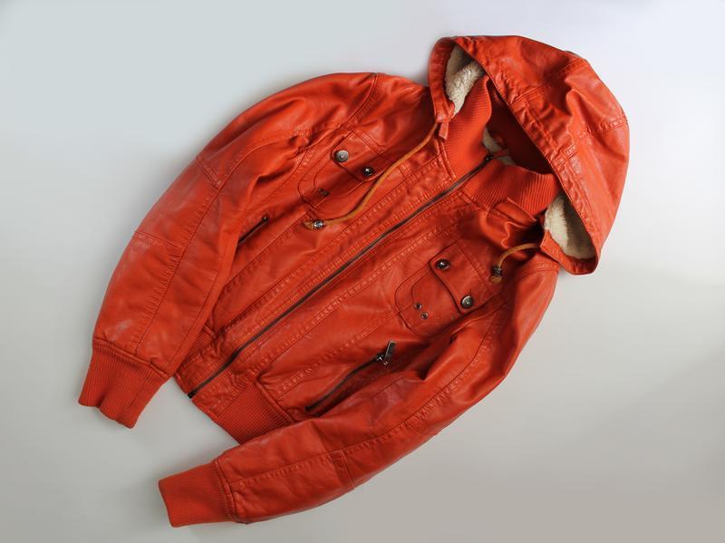 Куртка кожанка на меху