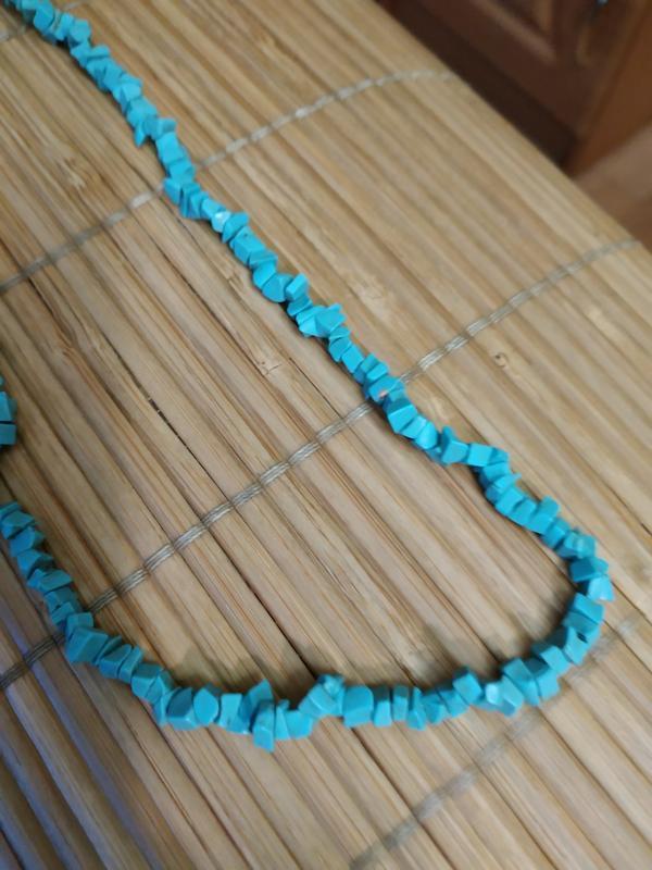 Ожерелье и серьги из натуральной бирюзы - Фото 3
