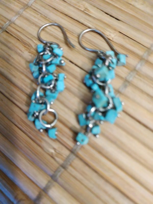 Ожерелье и серьги из натуральной бирюзы - Фото 4